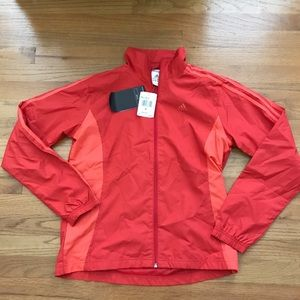 NWT Adidas Hot Coral & Calypso Mesh Lined Jacket